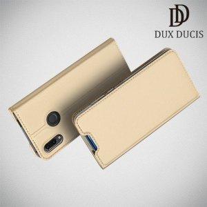 Dux Ducis чехол книжка для Huawei P Smart Z с магнитом и отделением для карты - Золотой