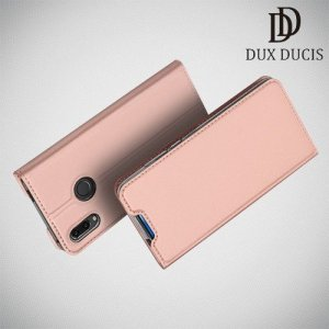 Dux Ducis чехол книжка для Huawei P Smart Z с магнитом и отделением для карты - Розовое Золото