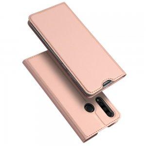 Dux Ducis чехол книжка для Huawei P30 Lite с магнитом и отделением для карты - Розовый