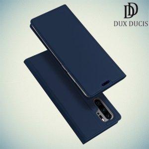 Dux Ducis чехол книжка для Huawei P30 Pro с магнитом и отделением для карты - Синий