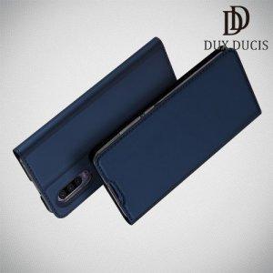 Dux Ducis чехол книжка для Huawei P30 с магнитом и отделением для карты - Синий