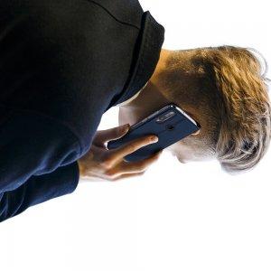 Dux Ducis чехол книжка для Huawei P40 lite E с магнитом и отделением для карты - Синий