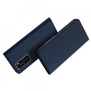 Dux Ducis чехол книжка для Huawei P40 с магнитом и отделением для карты - Синий