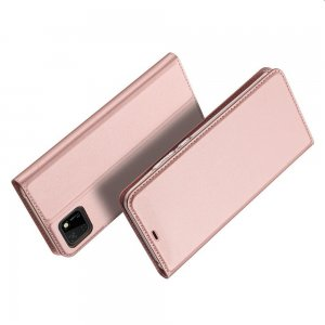 Dux Ducis чехол книжка для Huawei Y5p / Honor 9S с магнитом и отделением для карты - Розовый