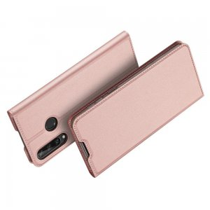 Dux Ducis чехол книжка для Huawei Y6p с магнитом и отделением для карты - Розовый