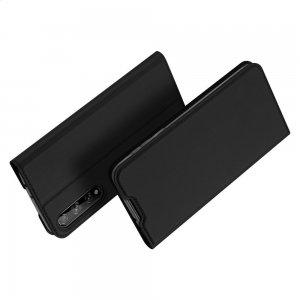 Dux Ducis чехол книжка для Huawei Y8p с магнитом и отделением для карты - Черный