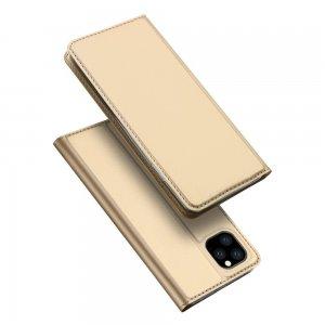 Dux Ducis чехол книжка для iPhone 11 Pro Max с магнитом и отделением для карты - Золотой