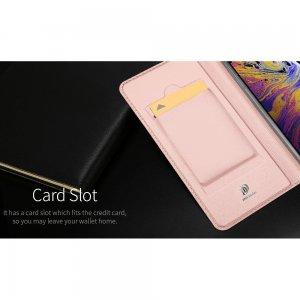 Dux Ducis чехол книжка для iPhone 11 с магнитом и отделением для карты - Черный