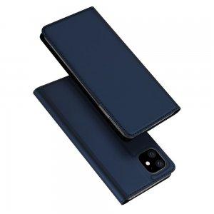 Dux Ducis чехол книжка для iPhone 11 с магнитом и отделением для карты - Синий