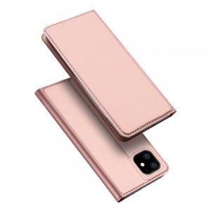 Dux Ducis чехол книжка для iPhone 11 с магнитом и отделением для карты - Светло-Розовый