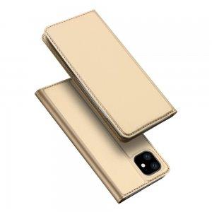 Dux Ducis чехол книжка для iPhone 11 с магнитом и отделением для карты - Золотой