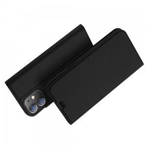 Dux Ducis чехол книжка для iPhone 12 Pro 6.1 с магнитом и отделением для карты - Черный