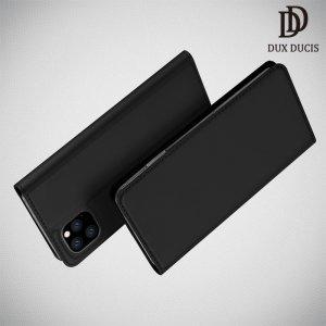 Dux Ducis чехол книжка для iPhone 11 Pro с магнитом и отделением для карты - Черный