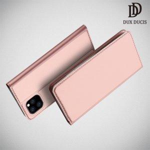 Dux Ducis чехол книжка для iPhone 11 Pro с магнитом и отделением для карты - Розовое Золото