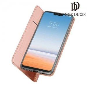 Dux Ducis чехол книжка для LG G7 ThinQ с магнитом и отделением для карты - Розовое Золото