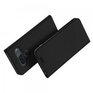Dux Ducis чехол книжка для LG G8s ThinQ с магнитом и отделением для карты - Черный