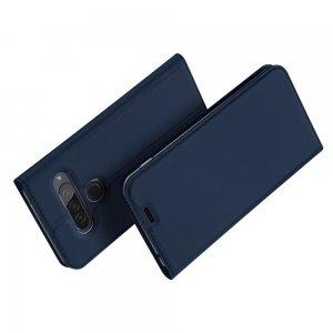 Dux Ducis чехол книжка для LG G8s ThinQ с магнитом и отделением для карты - Синий
