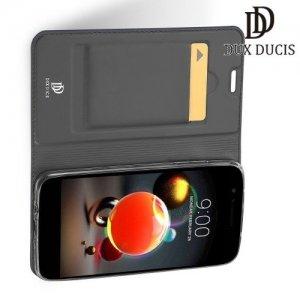Dux Ducis чехол книжка для LG K8 (2018) / LG K9 с магнитом и отделением для карты - Серый