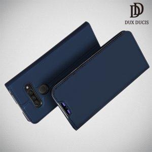 Dux Ducis чехол книжка для LG Q60 с магнитом и отделением для карты - Синий