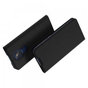 Dux Ducis чехол книжка для Motorola Moto G9 Play / E7 Plus с магнитом и отделением для карты - Черный