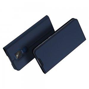 Dux Ducis чехол книжка для Motorola Moto G8 Play / E7 Plus с магнитом и отделением для карты - Синий