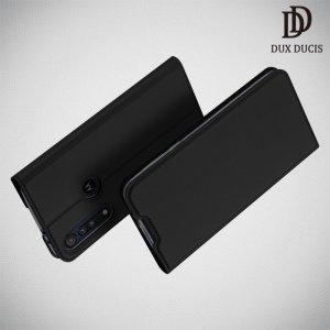 Dux Ducis чехол книжка для Motorola Moto G8 Play с магнитом и отделением для карты - Черный