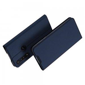 Dux Ducis чехол книжка для Motorola Moto G8 Plus с магнитом и отделением для карты - Синий
