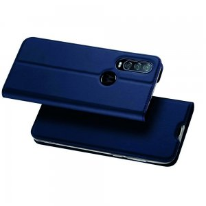 Dux Ducis чехол книжка для Motorola One Action с магнитом и отделением для карты - Синий