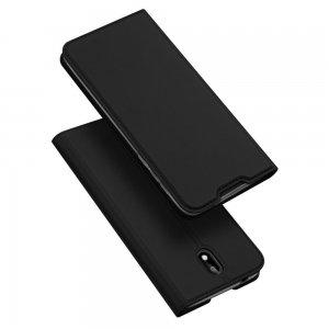 Dux Ducis чехол книжка для Nokia 1.3 с магнитом и отделением для карты - Черный