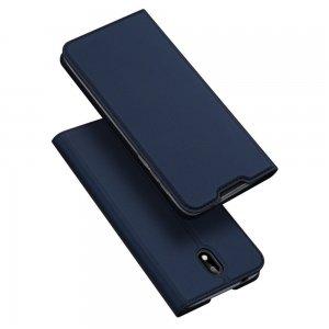 Dux Ducis чехол книжка для Nokia 1.3 с магнитом и отделением для карты - Синий