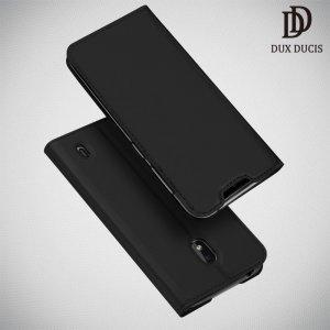 Dux Ducis чехол книжка для Nokia 2.2 с магнитом и отделением для карты - Черный