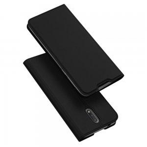 Dux Ducis чехол книжка для Nokia 2.3 с магнитом и отделением для карты - Черный