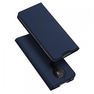 Dux Ducis чехол книжка для Nokia 5.3 с магнитом и отделением для карты - Синий