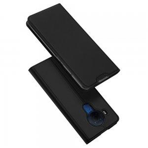 Dux Ducis чехол книжка для Nokia 5.4 с магнитом и отделением для карты - Черный