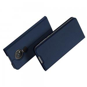 Dux Ducis чехол книжка для Nokia 6.2 / 7.2 с магнитом и отделением для карты - Синий
