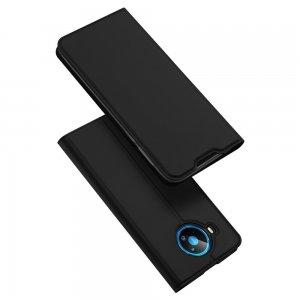 Dux Ducis чехол книжка для Nokia 8.3 5G с магнитом и отделением для карты - Черный