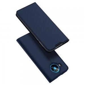 Dux Ducis чехол книжка для Nokia 8.3 5G с магнитом и отделением для карты - Синий