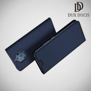 Dux Ducis чехол книжка для Nokia 9 PureView с магнитом и отделением для карты - Синий