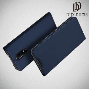 Dux Ducis чехол книжка для OnePlus 7 с магнитом и отделением для карты - Синий