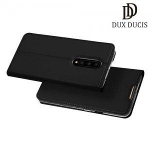 Dux Ducis чехол книжка для OnePlus 7 Pro с магнитом и отделением для карты - Черный