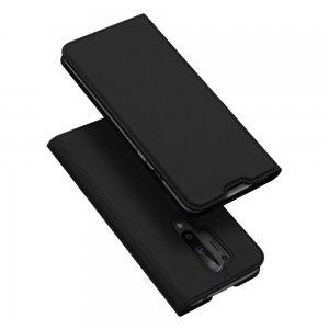 Dux Ducis чехол книжка для OnePlus 8 Pro с магнитом и отделением для карты - Черный