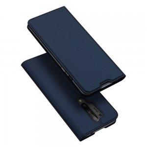 Dux Ducis чехол книжка для OnePlus 8 Pro с магнитом и отделением для карты - Синий