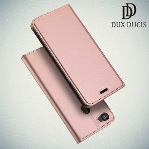 Dux Ducis чехол книжка для Oppo F7 с магнитом и отделением для карты цвета розовое золото
