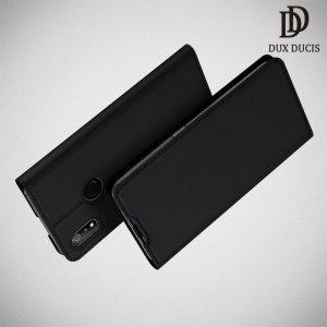 Dux Ducis чехол книжка для Oppo Realme 3 с магнитом и отделением для карты - Черный
