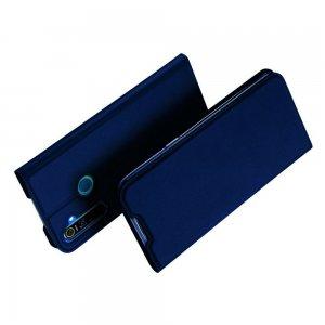Dux Ducis чехол книжка для OPPO Realme 5 Pro с магнитом и отделением для карты - Синий