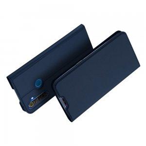 Dux Ducis чехол книжка для OPPO Realme 5 с магнитом и отделением для карты - Синий