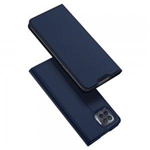 Dux Ducis чехол книжка для OPPO Reno 4 Lite с магнитом и отделением для карты - Синий