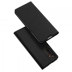 Dux Ducis чехол книжка для Realme 6 Pro с магнитом и отделением для карты - Черный