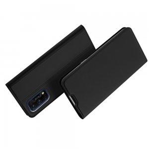Dux Ducis чехол книжка для Realme 7 Pro с магнитом и отделением для карты - Черный