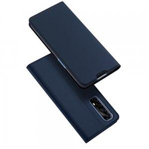 Dux Ducis чехол книжка для Realme 7 с магнитом и отделением для карты - Синий